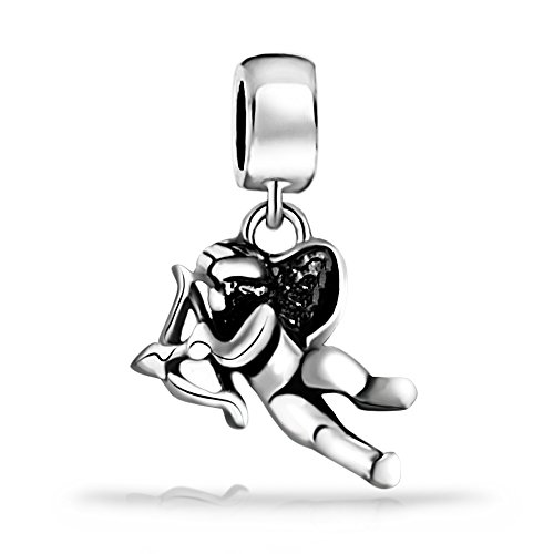 - Everbling Cupid Dangle Charm 925 Sterling Silver Bead Fits European Charm Bracelet