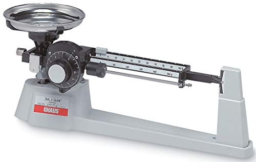Ohaus 1610-00 Dial-O-Gram Triple Beam Balance with Tare and SS Pan, 610g x ()