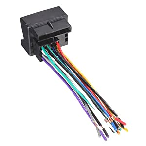 41%2BIipRVaCL._SY300_ amazon com car stereo radio player wire harness adapter plug for car radio wiring harness adapters at panicattacktreatment.co