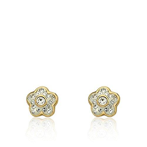 14kt Gold Plated Rhinestone Earrings - Molly Glitz