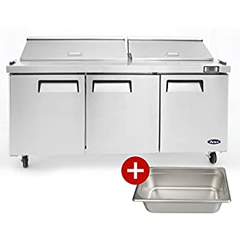 Amazoncom Arctic Air ASTR Two Door Sandwich Prep Table - Commercial sandwich prep table