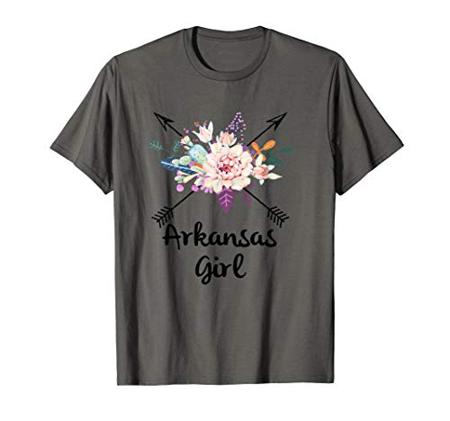 Arkansas Girl Cross Arrow Cactus Floral Wreath  T-Shirt