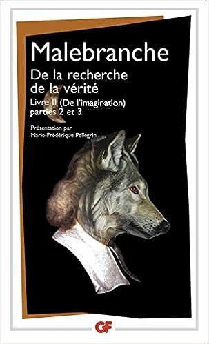 De La Recherche De La Verite Livre 2 Nicolas Malebranche