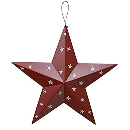 "PRIMITIVE METAL BARN STAR  AMERICANA 12 INCH 12/"" COUNTRY RUSTIC AMERICAN"