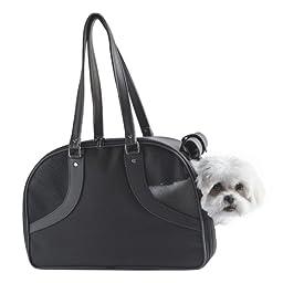 Petote Roxy Pet Carrier Bag, Black, Small