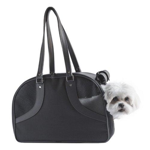 Petote Roxy Pet Carrier Bag, Black, Large