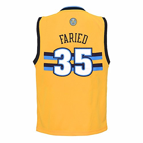 adidas Kenneth Faried Denver Nuggets NBA Gold Official Alternate Replica Basketball Jersey For Toddler (4T)