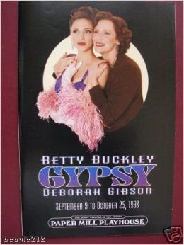 GYPSY - PROGRAM - SEPTEMBER 9 TO OCTOBER 25, 1998