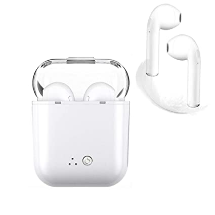 Auriculares Bluetooth, blancos Auriculares inalámbricos Auriculares intrauditivos Manos libres Auriculares con cancelación de ruido Compatible