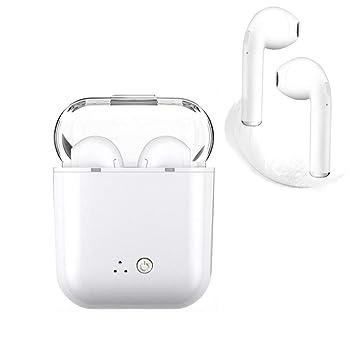 Auriculares Bluetooth, blancos Auriculares inalámbricos Auriculares intrauditivos Manos libres Auriculares con cancelación de ruido Compatible con iPhone XR ...