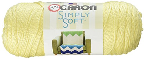 Caron Simply Soft Solids Yarn (4) Medium Gauge 100% Acrylic - 6 oz - Sunshine - Machine Wash & - Worsted Shine Yarn