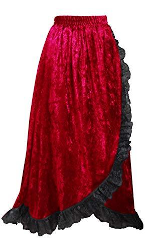 Cykxtees Steampunk Gothic Renaissance Theater Victorian Velvet & Lace Skirt