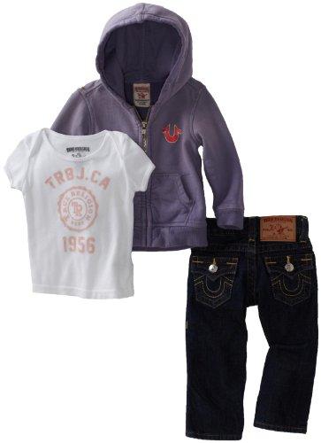 True Religion Unisex Baby Baby 3 Piece Gift Box Set