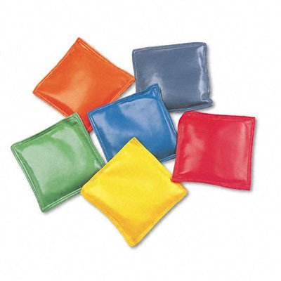 Champion Sports Bean Bag Set, Vinyl, 4amp;quot, Assorted Colors, Six per Set