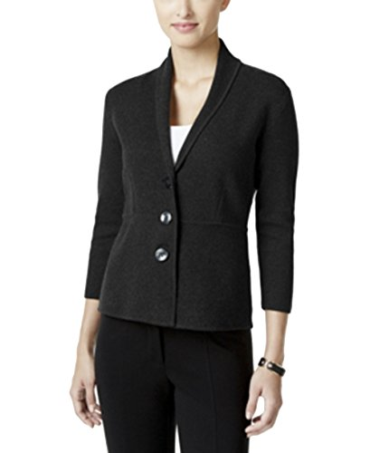 Alfani Three-Button Knit Jacket, Black, (Alfani Jacket)