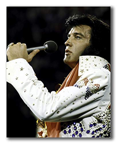 Globe Photos ArtPrints Elvis Presley Performing in A Beaded Jumpsuit - 8