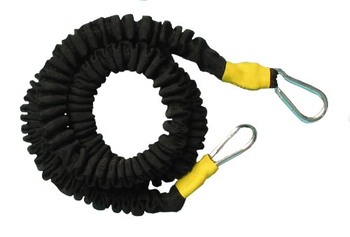 TAP Bungee Cord with Padded Resistance Belt, Yellow, 10-30-Feet