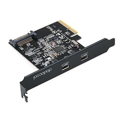Dodocool Pci Express Card With Dual Type C Ports 15 Pin Connector Superspeed Gen Ii  10 Gbps  For Windows 7   8   8 1   10 Linux Kernal