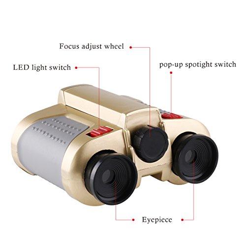 Freebily 4x30 Night Scope Binoculars Telescope with Pop-up Spotlight Fun Cool Toy Gift for Kids Boys Girls by Freebily (Image #3)