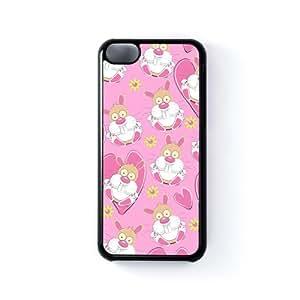 Rabbits Blue Baby Pink Carcasa Protectora Snap-On en Plastico Negro para Apple® iPhone 5C de Nick Greenaway + Se incluye un protector de pantalla transparente GRATIS