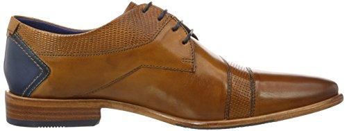 Daniel Hechter 811229071111, Zapatos de Cordones Derby para Hombre Braun (Cognac / Dark Blue)