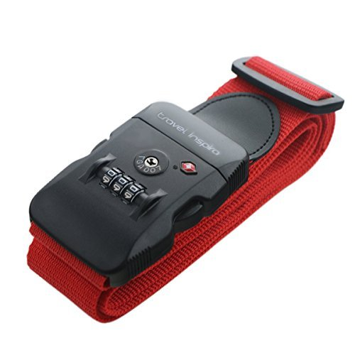 travel inspira Neon Strength Travel Belt Luggage Strap with TSA Combination Lock
