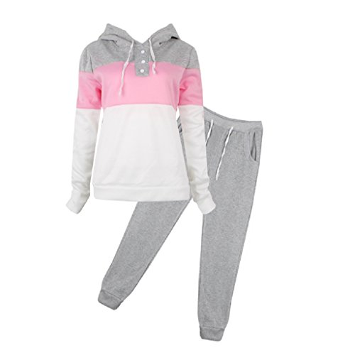 Women's 2pcs Hoodies Sweatshirt Pants Sets Casual Tracksuit - 1