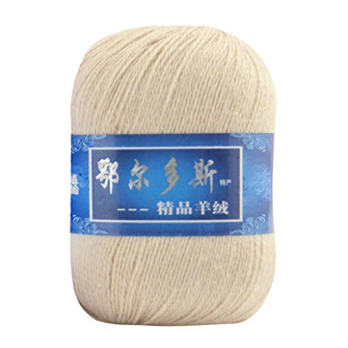 Creazy 1pc Soft Cashmere Yarn Hand-knitted Mongolian Woolen DIY Weave Thread (C)