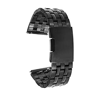 fitian Reemplazo Banda Correa de reloj de acero inoxidable de 22 mm Metal reloj banda para