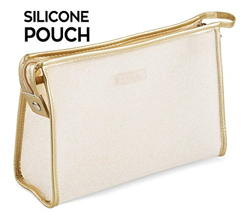 Le Sac Silky Soft Silicone Cosmetic Pouch Makeup Bag (Medium) (Juicy Cosmetic Bag)