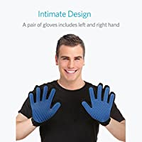 Pet Grooming Glove for Dog, Shedding Gloves Brush, Dog Bathing Glove Cat Petting Glove, Gentle and Efficient Hair Groomer, Pet Grooming Mitt and De-shedding Massaging Tool (One Pair)