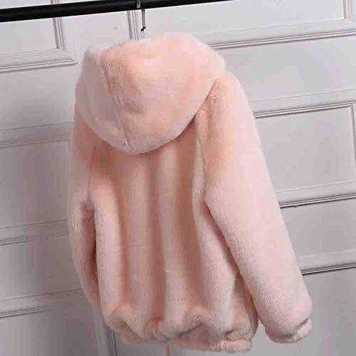 Cappotto Manica Elecenty Giacche Lana In Solido Rosa Cappuccio Lunga Lungo Giacca Allentato Eleganti Autunno Con Cardigan wAHqFaAx
