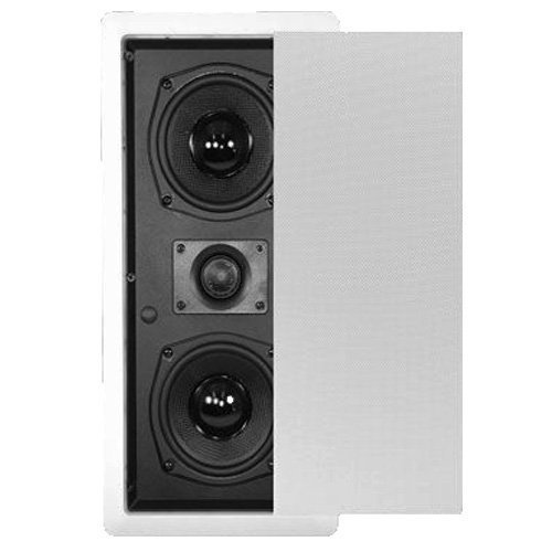 Theater Solutions TSLCR5 Dual 5.25-Inch Woofer In Wall Surround Sound HD Home Theater Kevlar Center Channel (Solution Center)