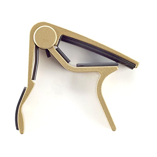 Dunlop Acoustic Trigger, Curved, Gold Guitar Capo (83CG) (Gold Capo)