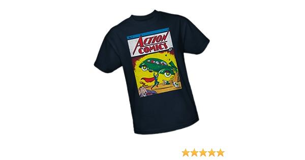 1 T Shirt Licensed Comic Book Movie Tee Black Superman Action Comics No