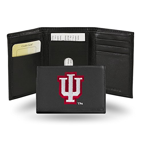Rico Industries NCAA Indiana Hoosiers Embroidered Leather Trifold - Hoosiers Indiana Purse