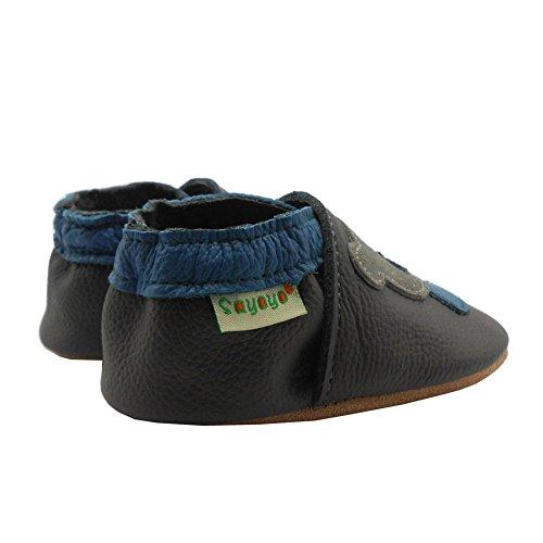 Sayoyo Suaves Zapatos De Cuero Del Bebé Zapatillas Oso Gris
