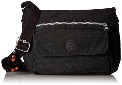 Kipling Syro Hobo, Black, One Size Beaded Hobo Purse Handbag