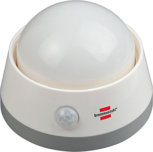 4er Set Brennenstuhl Batterie LED-Nachtlicht NLB 02 BS mit Infrarot-Bewegungsmelder und Push-Schalter 6 LED 60 lm 3x AA (enthalten), 1173290
