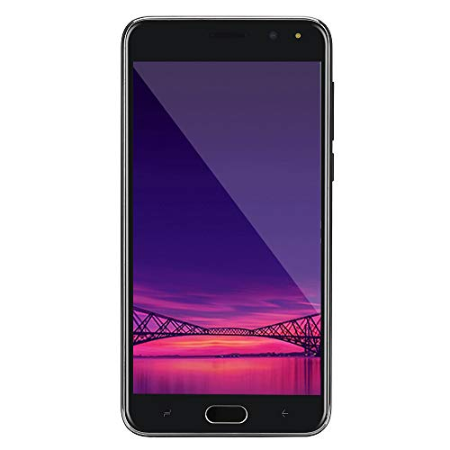 Unlocked 5.0 inch Dual Sim Smartphone - Android IPS Full Screen 4GB Touch Screen WiFi Bluetooth GPS 3G Call Mobile Phone (Black)
