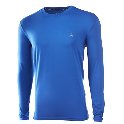 Arctic Cool Men's Solid Crew Neck Instant Cooling Long Sleeve Shirt with UPF 50+ Sun Protection