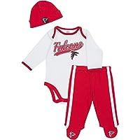 Atlanta Falcons Gerber Newborn Onesie, Footed Pants & Hat Set - White (6-9 MO...