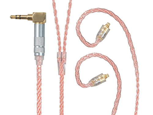 Monolith Headphone Cable with MMCX Connectors - 5 Feet - Pink with Oxygen Free Copper Braided Auxiliary Audio Cord by Monolith (Image #4)