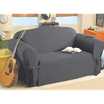 SOLID SUEDE Couch Cover 3 Pc. Slipcover Set U003d Sofa + Loveseat + Chair Covers