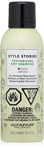 Alfaparf Dry Hair Shampoo - Alfaparf Milano Style Stories Texturizing Dry Shampoo - Quickly Cleans Hair - Adds Support, Texture and Volume - Pleasant Fragrance - Professional Salon Quality - 6.67 fl. oz.