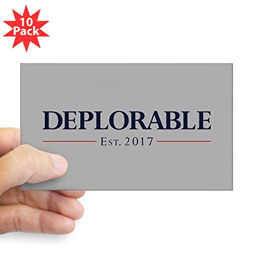 CafePress Deplorable Est 2017 Rectangle Bumper Sticker (10-Pack), Car Decal ()