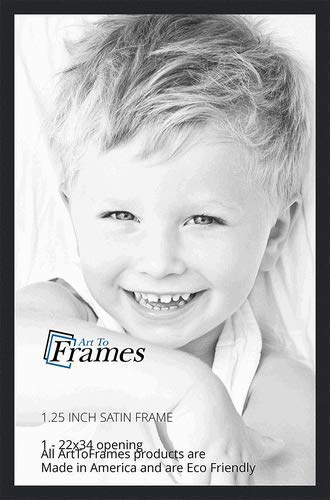 Amazon.com - ArtToFrames 22x34 inch Satin Black Picture Frame ...