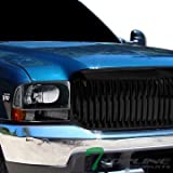 Blk Vertical Sport Front Hood Bumper Grill Grille Abs Ford F250/Excursion