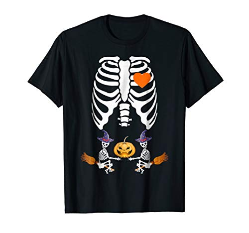 Skeleton Baby Twin Wizard Shirt Pregnancy Costume