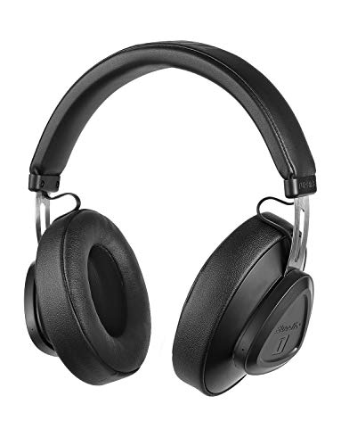 Bluedio TM Bluetooth Headphones Over Ear with Mic, Voice Control Hi-Fi Stereo Wireless Headset Supports Amazon Web Services AWS for Travel Work Cellphone, Black